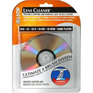 Eight brush system cleans off the entire laser lens; Will not damage sensitive optical components; Enjoy your Netflix titles more or improve your music archive by cleaning your optics in your CD or DVD ROM