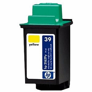 Model number: 51639C Manufacturer: Hewlett Packard Color: Cyan Product type: Inkjet Cartridge Print technology: Inkjet Maximum yield: 900 pages (with 5% average coverage) Packaged quantity: 1 Package dimensions: 4 x 3.3 x 2 in. Package weight: 0.1 lb.